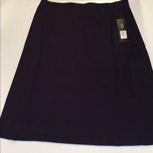 Misook Navy Blue Skirt